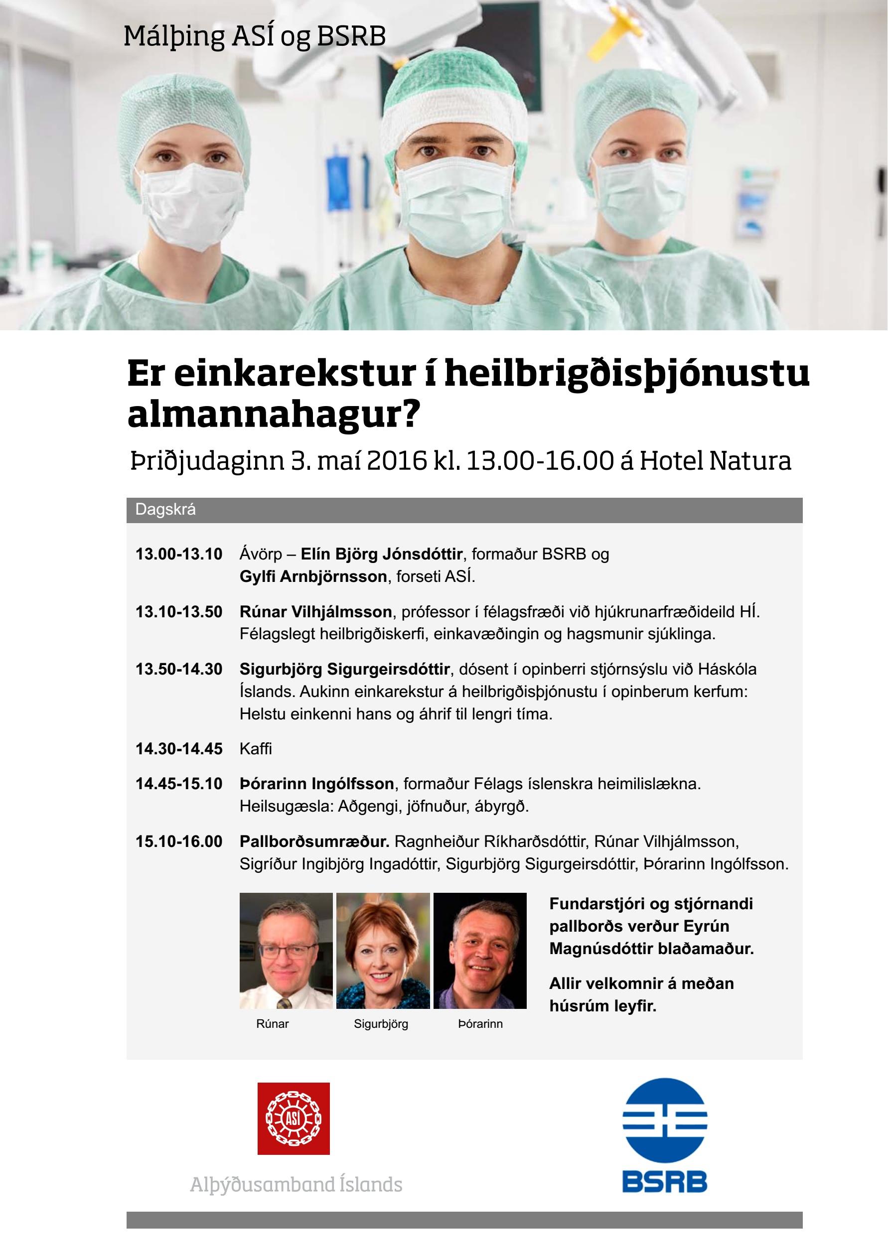 Málþing BSRB og ASÍ